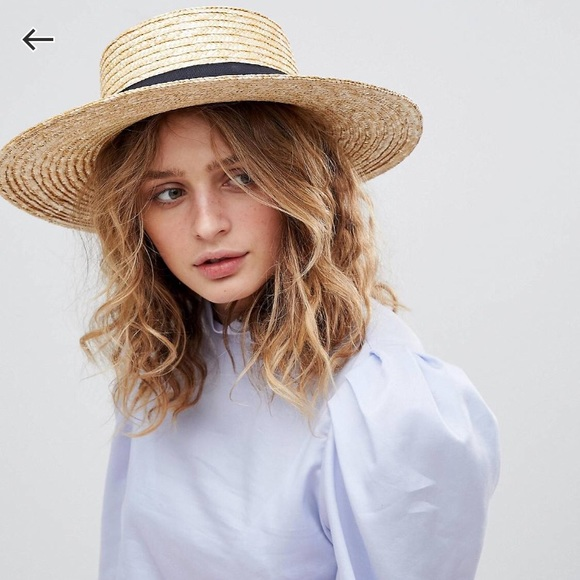 9d23b01158090 ASOS Accessories - ASOS Straw Boater Hat BRAND NEW   NEVER WORN